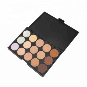 Private label makeup cosmetics 15 color concealer palette with high quality