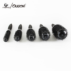 Professional Hair Brush Hairbrush Thermal Ceramic Ion Round Barrel Comb Hairdressing Hair Salon Styling Drying Curling