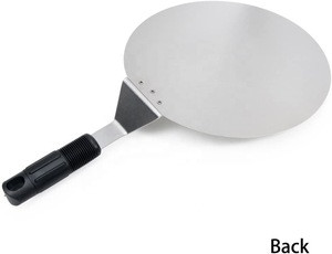 Secure Grip Handle Pizza Peel Baking Tools,Paddle Round Cake Shovel for baking Homemade Pizza