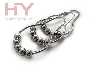 Shower Curtain Hooks, 100% Stainless Steel, Polished Chrome, Set of 12 Rings