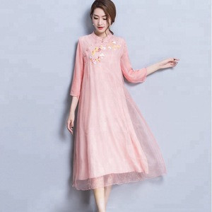 Silk Retro Chinese National Dress vintage traditional chinese dress