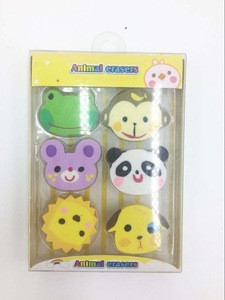 Stationery school animal eraser for kids