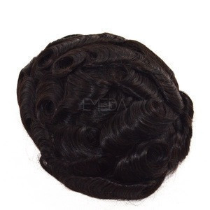 Top quality comfortable real hair swiss lace cheap toupee for men human hair toupee