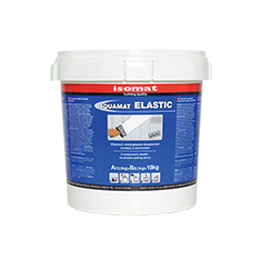 Two component elastic cement based brushable waterproofing slurry for flat roofs, swimming pools and water tanks