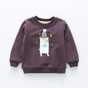 wholesale baby clothes cute design fleece lined baby boy sweater