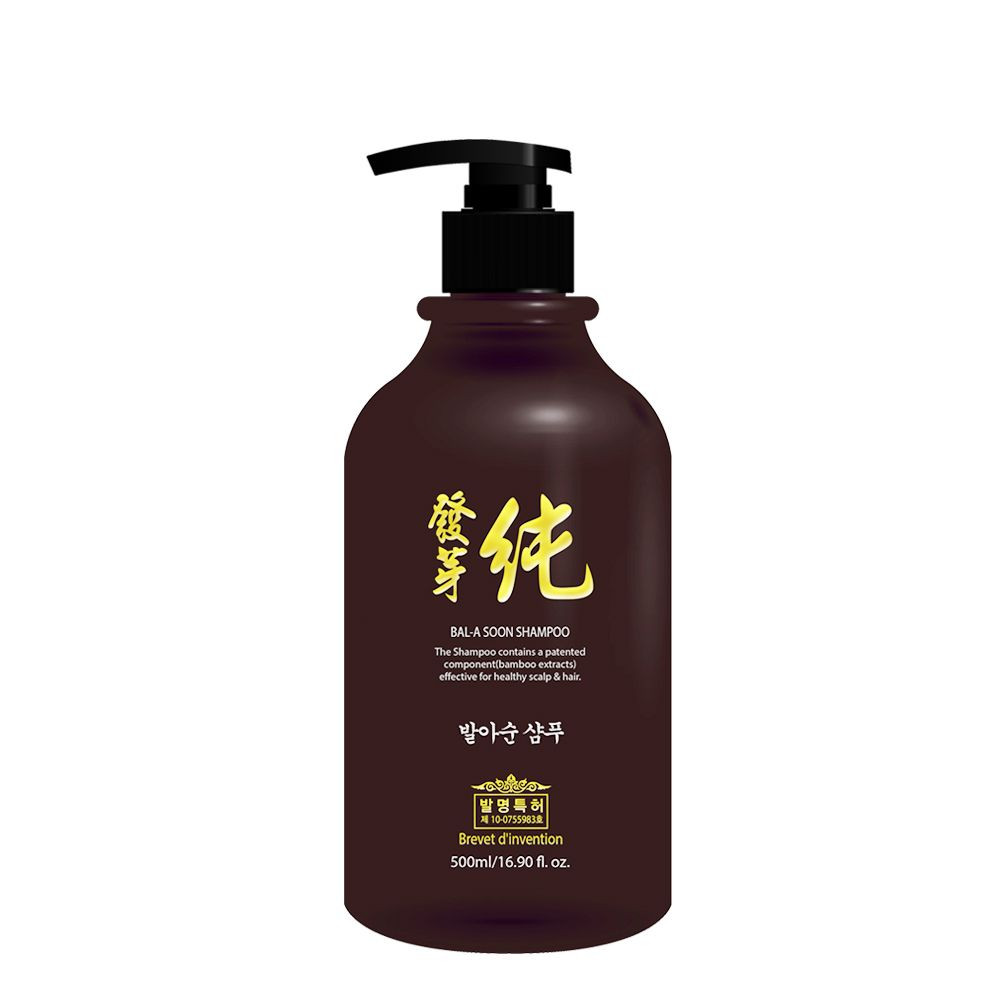 ISO22716 GMP OEM/Private Label Korean Patented Natural Herbal scalp care anti-hair loss Bal A Soon Shampoo 500ml