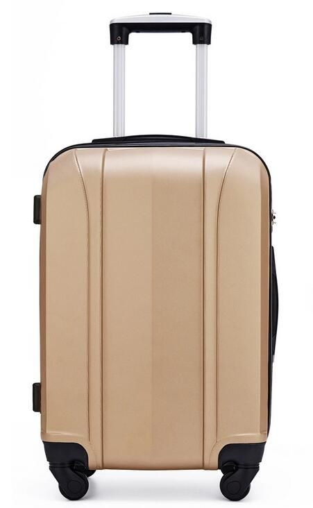 Import 3PCS Beige Gold Color ABS Hardshell Spinner Wheel Travel Luggage Sets from China
