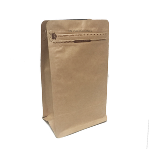 16 oz kraft paper pocket zipper coffee packaging bags with valve for turkey