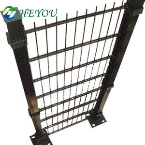 8/6/8 double wire fence mesh size:50*200mm galvanized then powder caoted in fencing trellis & gates