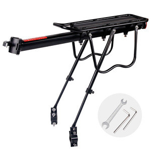 A574 Cycling Seatpost Bag Holder Stand for 20-29 inch bikes with Install Tools Deemount Bicycle Luggage Carrier Cargo Rear Rack