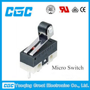 China CGC with 17 years of experience in foreig trade KW10-01-12 3A roller lever micro switch,3 pin micro switch