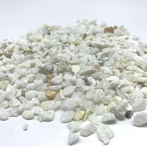 China natural snow white pebble stone for driveway, patio and garden