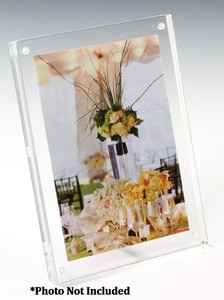 Clear Acrylic Tabletop Frame with Standoff Hardware Acrylic Photo Frame Wholesale