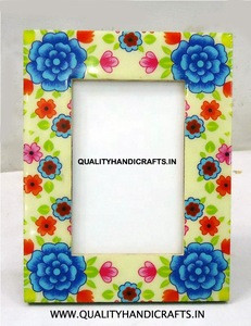 Enamel  Floral  Photo Frame 4x6  Gifted & Promotion Items / Home Decor / Table Top Photo Frame