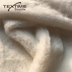 Factory Certified Product Garment Use Polyester Fleece Faux Rabbit Fur Fabric