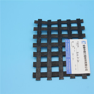 Fiberglass geogrid composite geotextile for road