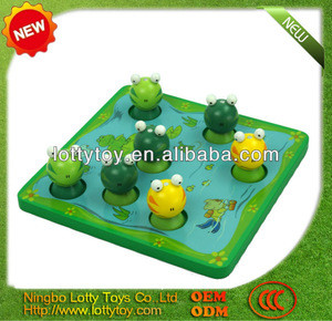 Frog wooden fishing toy for kids