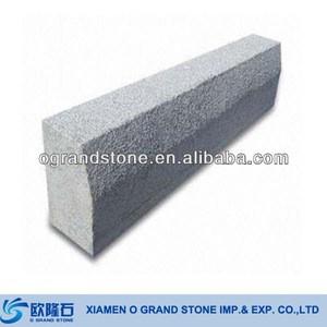 Granite Curb Pricing Bevel Chinese Granite Curb Grey Garden and Road Granite Curbing