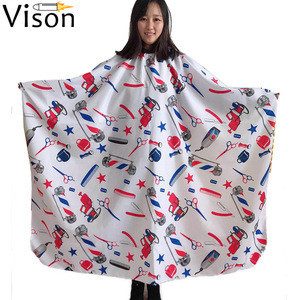 Hairdressing gown hair cutting pattern  coloring apron hairdresser