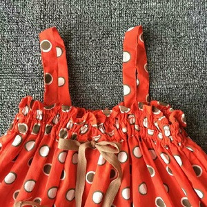 High Quality Baby Clothes Polka Dots Suspenders Wholesale Handmade Girl Casual Skirt
