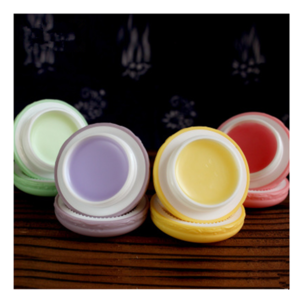 High quality OEM round organic lip balm