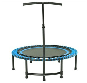 Hot selling Spring free fitness trampoline rebounder with handrail