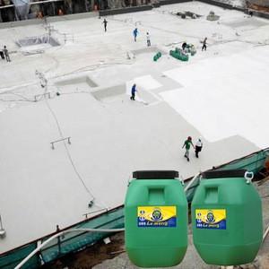 Liquid waterproof coating for concrete basement