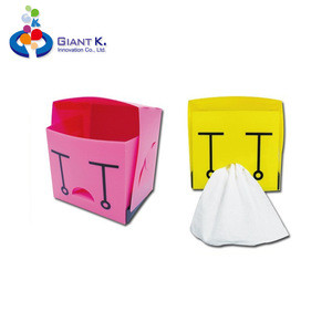 Magnetic pen holder container magnetic cube stationery holder