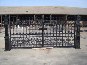 Modern home villa use cast iron/wrought iron 4x4 fence posts metal fence NTIF-022S