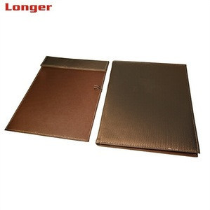Multifunctional a4 pu leather file folder with notepad assorted