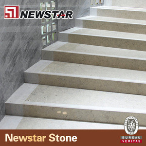 Natural marble stone straight marble stair type