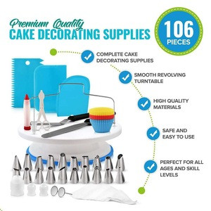 Set of 106 Cake decorating piping nozzles Icing tips