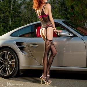 Sexy black silk stockings women garter belt lingerie