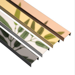 Stainless Steel Tile Trim Metal Decorative Flexible Strips Tile Accessories
