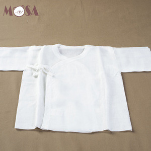 Top Quality Newborn Baby Gauze Underwear Top Made of Pure Cotton Gauze Infant Underwear White Japanese Style