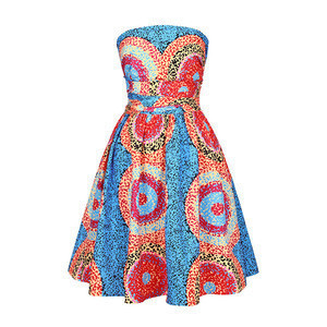 Wholesale High Quality Summer Tube One Piece Fashion Clothing African Women Dresses