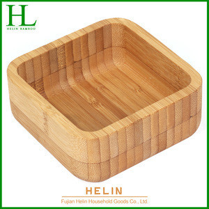 Wholesale square shape Bamboo tableware food dish sushi dishes