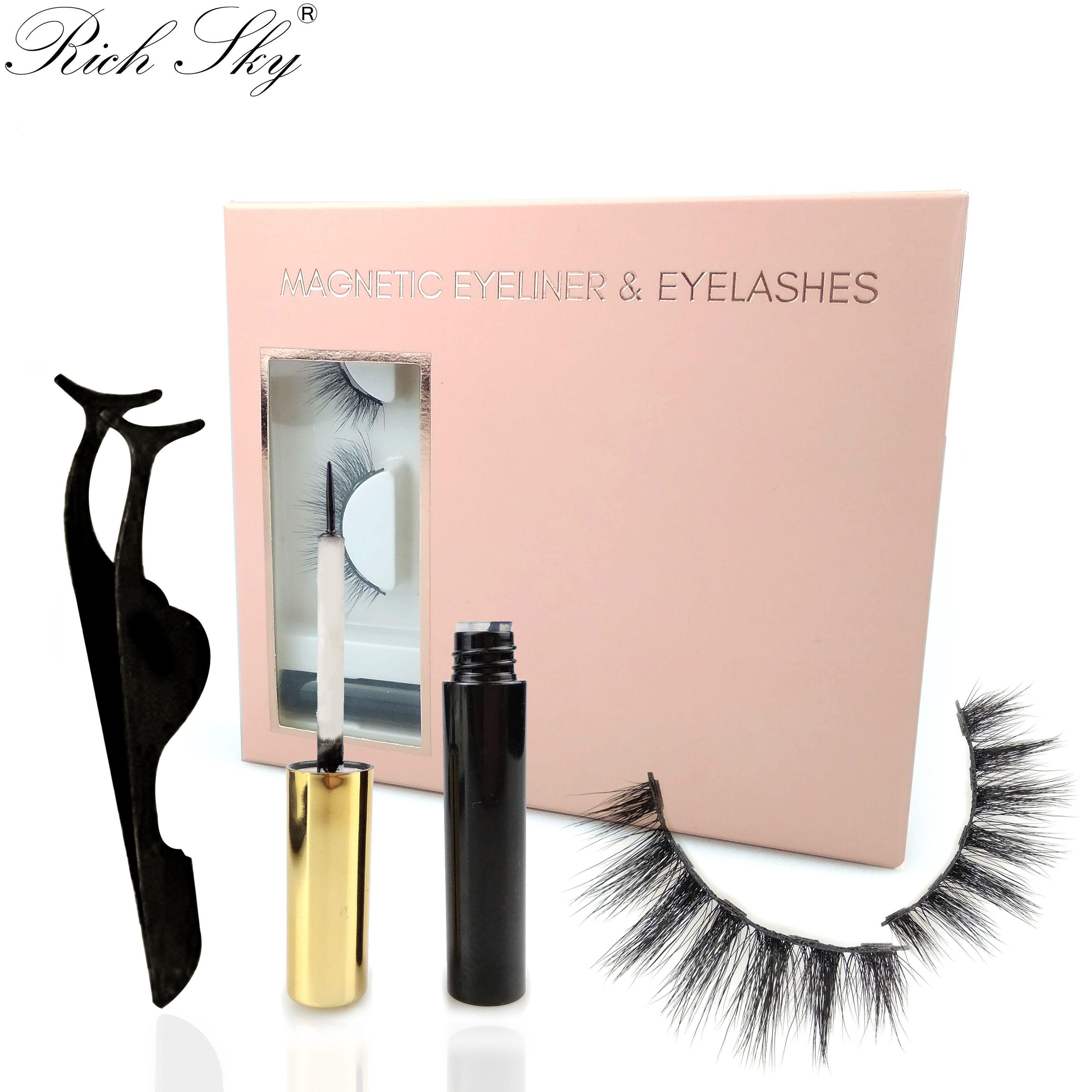 9D Magnetic Eyelashes with Tweezers & Magic Eyeliner Set