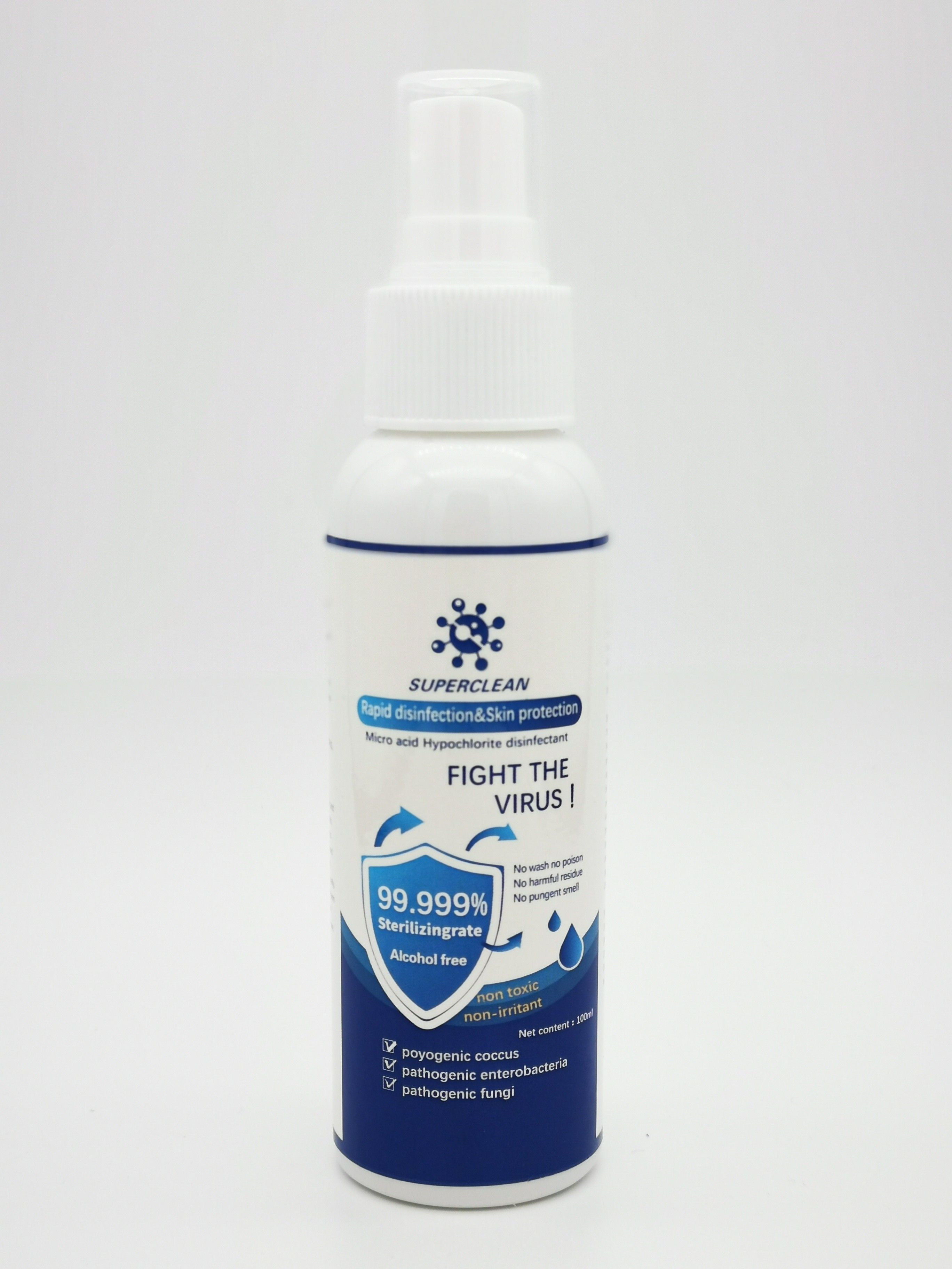 in stock Travel Size Alcohol Free 400ml Antibacterial Hand Sanitizer Spray 100ml