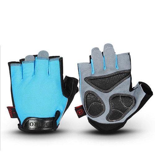 Breathable Padded Palm Finger less bike glove(018)