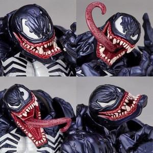 18CM Long Tongue Venom Costume Action Figure PVC Boy Toys Collection Anime Doll