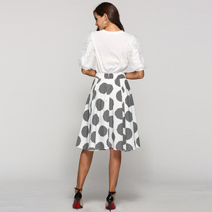 2019 Newest spring summer fashion ladies women long dot skirt