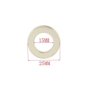 25mm Light Gold Nickle-free Round Eyelets and Grommet for Clothing Leather Accessories