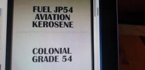AVIATION KEROSENE COLONIAL GRADE JP54