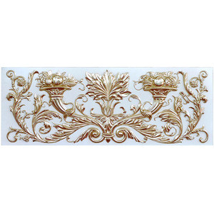 Banruo classic style PU material building decorative 3D wall panel board molding for interior decoration