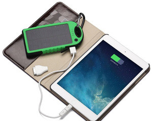 Best Selling Solar Chargers 4000mAh solar power bank with flashlight for tablets and smartphones