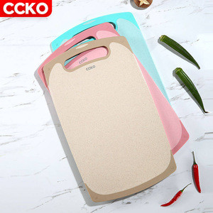 CCKO premium eco friendly bpa free fruit vegetable non slip wheat straw plastic chopping board plastic cutting board for kitchen