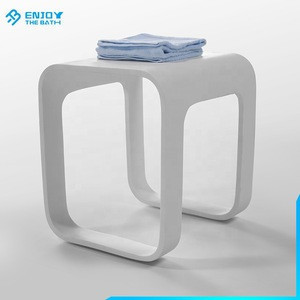China supplier home furniture for bathroom white acrylic bath collections stool