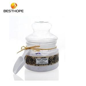 Custom beauty rose fragrance moisturize skin bath powder with spoon