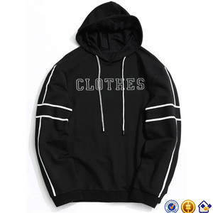 Fashion streetwear outdoor king young boys black Striped Clothes graphic design XXXXL Hoodie